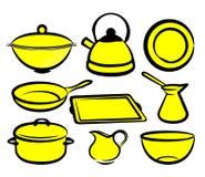 Piatto della cucina Fotografia Stock Libera da Diritti