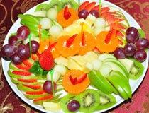 Piatto della frutta Immagine Stock