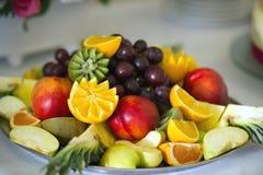 Piatto della frutta Fotografie Stock