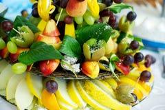 Piatto della frutta Immagini Stock