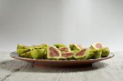 Piatto della frutta del fico Immagine Stock