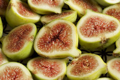 Piatto della frutta del fico Fotografie Stock