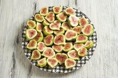 Piatto della frutta del fico Immagine Stock Libera da Diritti