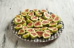 Piatto della frutta del fico Fotografia Stock Libera da Diritti