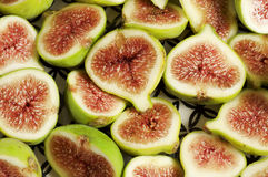 Piatto della frutta del fico Fotografie Stock Libere da Diritti