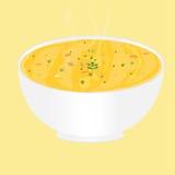 Piatto della minestra di verdura Illustrazione Vettoriale