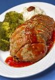 Piatto della pagnotta di carne Fotografia Stock
