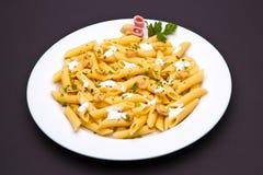 Piatto della pasta del fungo Immagini Stock Libere da Diritti