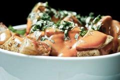 Piatto della patata Fotografia Stock