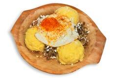 Piatto della polenta Fotografia Stock