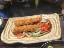 Piatto della tempura immagine stock