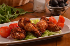 piatto delle ali di pollo Immagini Stock Libere da Diritti