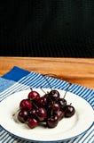 Piatto delle ciliege lavate Fotografia Stock Libera da Diritti