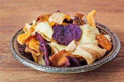 Piatto delle patatine fritte di verdure Fotografia Stock