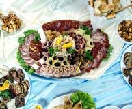 Piatto delle specialità gastronomiche della carne Fotografie Stock