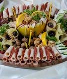 Piatto delle specialità gastronomiche della carne Fotografia Stock