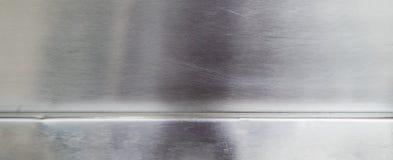 Piatto di alluminio del metallo brillante strutturato Immagini Stock