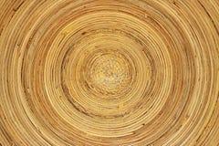 Piatto di bambù immagini stock libere da diritti