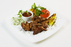 Piatto di carne fritta Immagine Stock Libera da Diritti