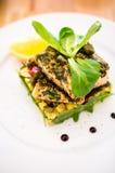 Piatto di color salmone Fotografie Stock