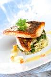 Piatto di color salmone Fotografia Stock Libera da Diritti