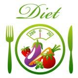 Piatto di dieta Fotografia Stock Libera da Diritti