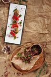 Piatto di Europa orientale e di Lobio georgiano tradizionale di Fried Meat Wr fotografia stock libera da diritti