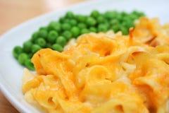 Piatto di formaggio della casseruola della tagliatella Immagini Stock