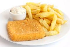 Piatto di formaggio fritto dorato fotografia stock libera da diritti