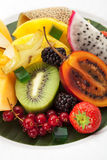 Piatto di frutta esotico immagini stock