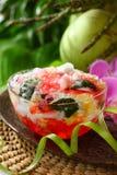 Piatto di frutta Mixed (es Campur) fotografia stock