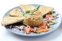 Piatto di hummus Fotografia Stock