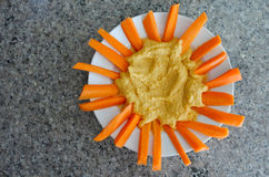 Piatto di hummus Fotografia Stock Libera da Diritti