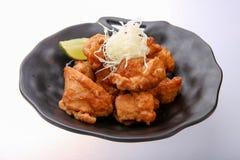 Piatto di Karake del pollo, polli fritti giapponesi Immagini Stock