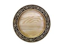 Piatto di legno. Fotografia Stock