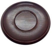 Piatto di legno giapponese vuoto fotografia stock libera da diritti