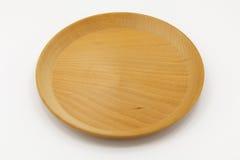 Piatto di legno su fondo isolato fotografie stock