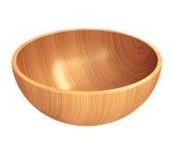 Piatto di legno vuoto Fotografia Stock Libera da Diritti