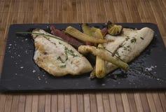 Piatto di pesce da lapidare Fotografia Stock