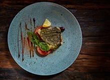 Piatto di pesce I pesci fritti Immagine Stock