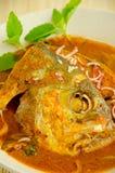 Piatto di pesci - Asam chiamato Pedas fotografia stock libera da diritti