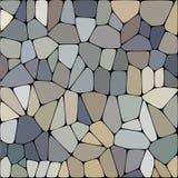 Piatto di pietra che pavimenta modello senza cuciture Le forme distorte geometriche di esagono dell'estratto ornano l'illustrazio illustrazione di stock