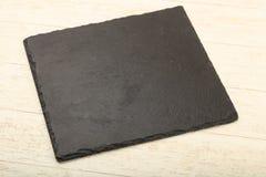 Piatto di pietra nero fotografia stock libera da diritti