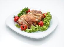 Piatto di pollo. fotografia stock libera da diritti