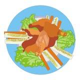 Piatto di pollo Immagine Stock Libera da Diritti