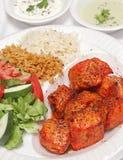 Piatto di pollo afgano cotto squisito Fotografie Stock Libere da Diritti