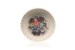 Piatto di porcellana antico cinese immagine stock