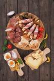 Piatto di prosciutto di Parma Fotografia Stock Libera da Diritti