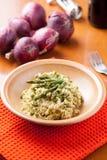 Piatto di risotto con asparago Immagini Stock Libere da Diritti