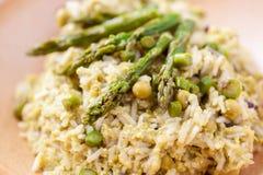 Piatto di risotto con asparago Immagine Stock